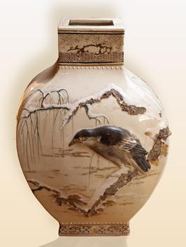 Vase Kosan oiseau noir 1fond beige PR.jpg